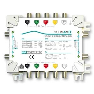 Multiswitch fracarro 287334 scr543it scr 5 in-4 out-3 us