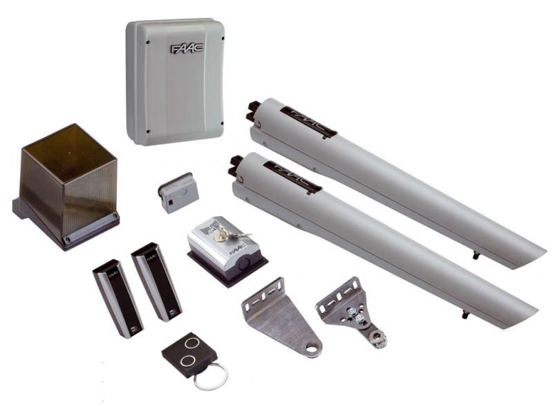 Faac handy kit 24v 105998 per cancelli a battente for Motore cancello battente faac