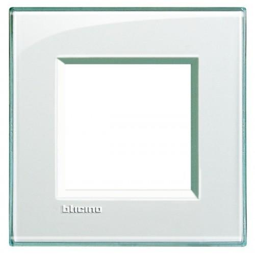 Placca bticino living international lna4802ka 2 posti acquamarina