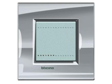 Placca bticino living international lna4802ns 2 posti grigio