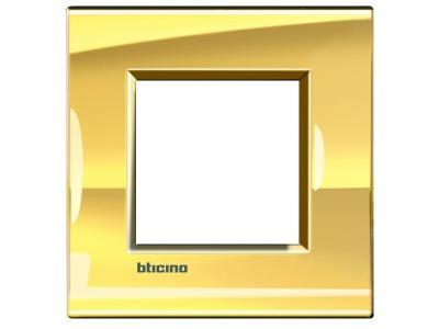 Placca bticino living international lna4802oa 2 posti oro