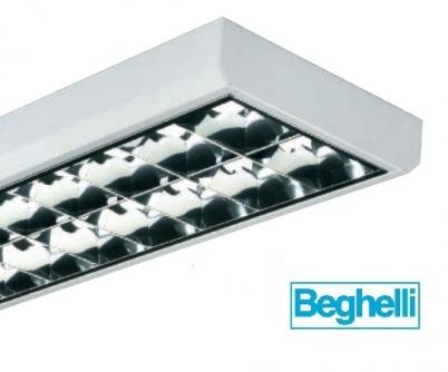 Plafoniera beghelli 73101 dark light 2x58w