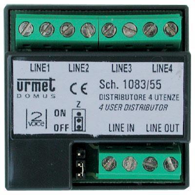 Distributore urmet 1083 55 4 utenze 2voice utd1083 55 for Urmet 1130 12 schema