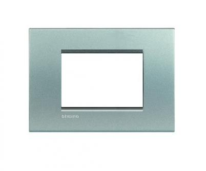Placca bticino lna4803te 3 posti tech living light