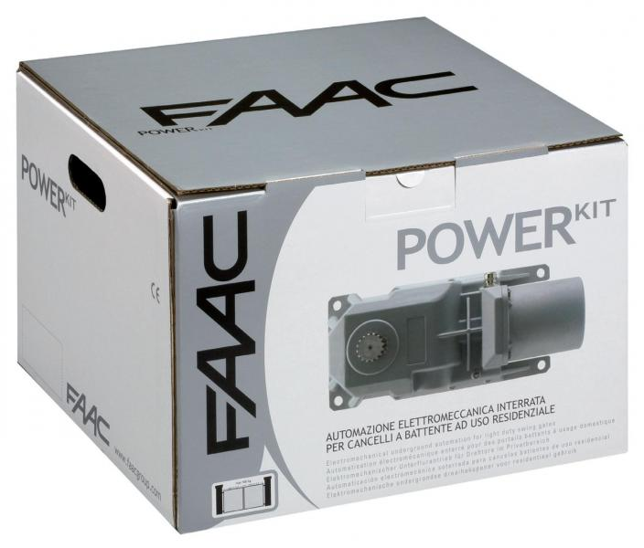 Faac power kit 106746445 green con 2 attuatori motore interrato per cancello a battente