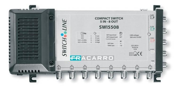 Multiswitch fracarro 271045 compact 5 in 8 out