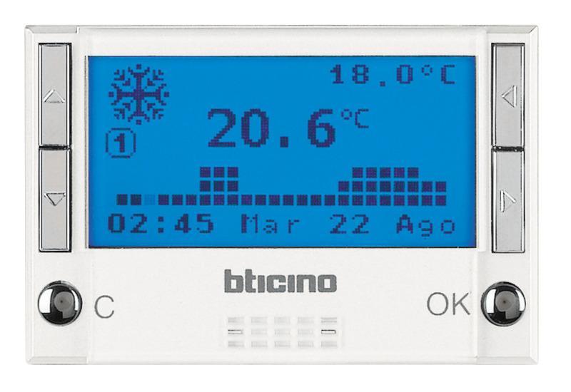 Cronotermostato Bticino Axolute Hd4451 Giornaliero Bianco