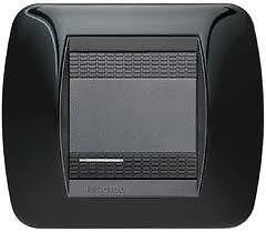 Placca bticino living interational l4802nr 2 posti  nero