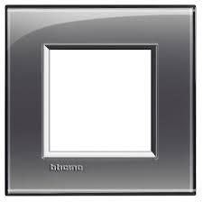Placca bticino living international lna4802kf 2 posti grigio
