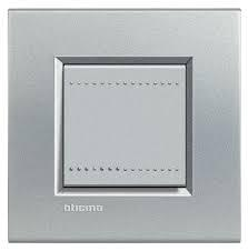 Placca bticino living international lna4802te 2 posti alluminio