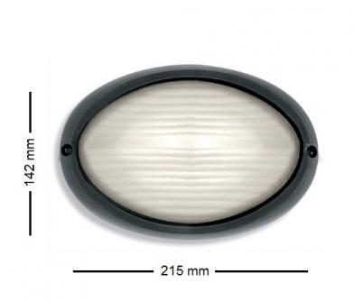 Plafoniera Da Esterno Ovale : Plafoniera stone 2007 n ovale nera 60w e27 ip54 ston2007