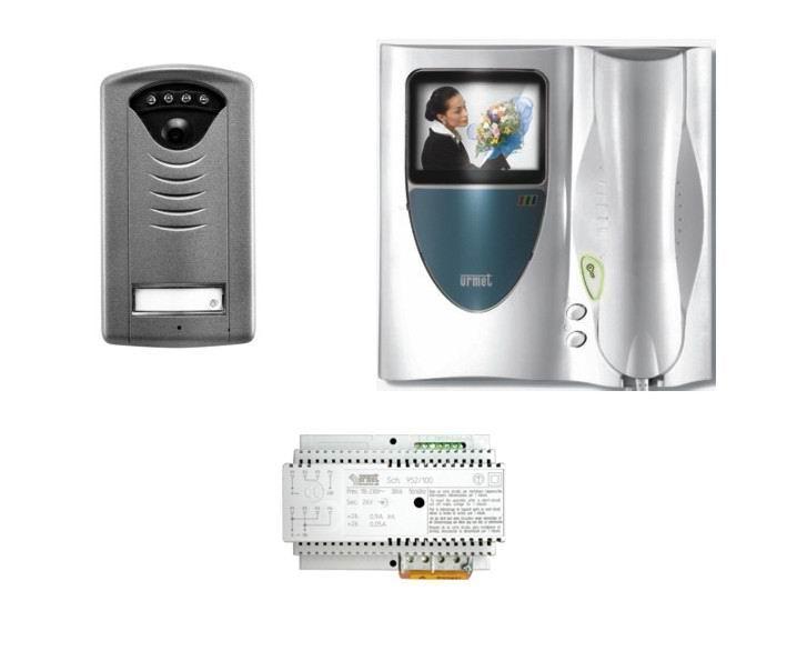 Urmet 952 51 kit videocitofono 2 fili monofamiliare a for Citofono elettronico urmet atlantico schema