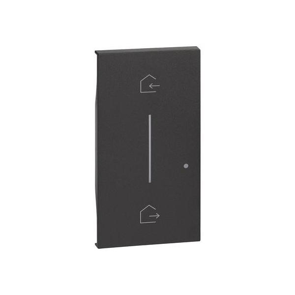 Cover simbolo entra & esci wireless Living Now nero Bticino KG40M2