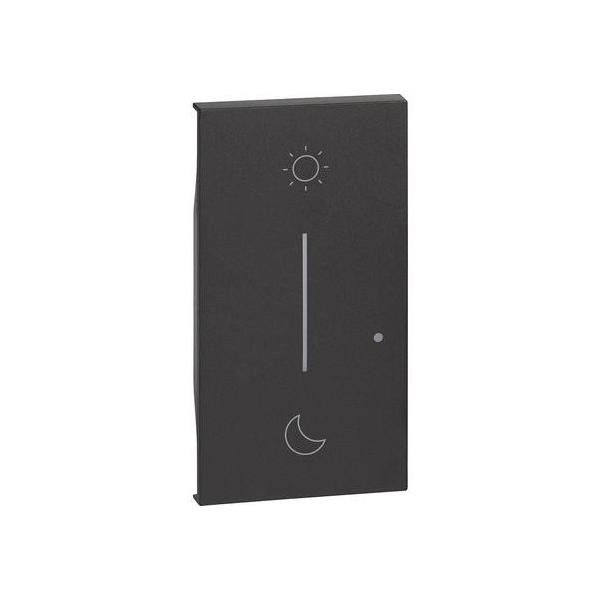 Cover simbolo notte&giorno wireless Living Now nero Bticino KG41M2